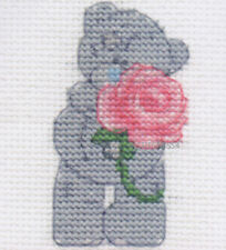 DMC Me To You Tatty Teddy Mini Cross Stitch Kit  Pink Rose