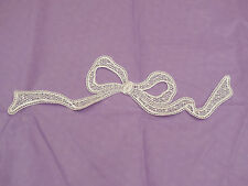 An ivory bridal Big Butterfly lace Applique/wedding lace motif for sale.By piece