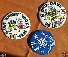 3 Large Pins-Homecoming +SnoDaze /De La Salle High School, Minneapolis, MN- '70s