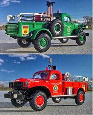 RARE SET - PENN FORESTRY / SMOKEY BEAR Dodge Power Wagon Firetrucks - First Gear