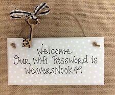 Peinte à la main chic wifi password numéro de code signe plaque personnalisé