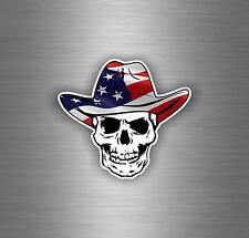 Sticker aufkleber auto moto helm schädel totenkopf skull flagge usa amerika