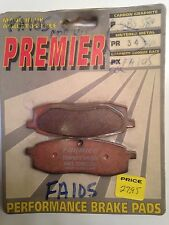 PREMIER #PR34 (FA105) Brake Pads YAMAHA YZ IT Models 85-88 FREE SHIPPING!
