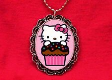 HELLO CUPCAKE KITTY CAKE BAKER KAWAII PENDANT NECKLACE