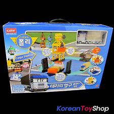 Robocar Poli Terry's Harbor Cargo Station Play Set w/ Terry Diecast Metal Model
