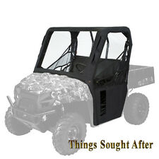 BLACK CAB ENCLOSURE for 2013 2014 KAWASAKI MULE 4000 4010 Diesel Canvas Fabric