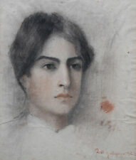 FRENCH SOCIETY FEMALE PORTRAIT  PORTRAIT DRAWING ART PAINTING IMPRESSIONIST