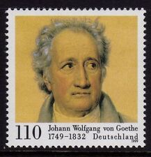 WEST GERMANY MNH STAMP DEUTSCHE BUNDESPOST J W VON GOETHE POET 1999 SG 2920