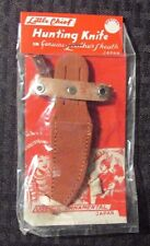 """Vintage Little Chief Hunting Knife 4.5"""" Leather Sheath MOC"""