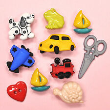 Buttons Galore Snips & Snails 4085 - Dog Car Train Plane Frog Boat Dress it Up