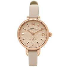 BRAND NEW MARC JACOBS MJ1421 SALLY ROSE GOLD FLOWER DIAL GREY LEATHER WATCH