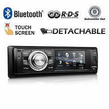 XTRONS 1-DIN Car Stereo In-Dash CD DVD Receiver Bluetooth Radio RDS USB SD Slot