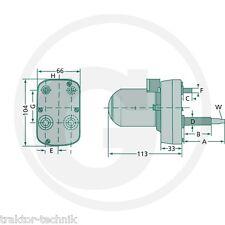 Wischermotor 12 V 115° zylindrisch Traktor Schlepper NEU Deutz, Fendt, etc.