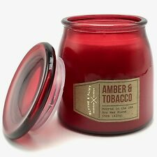 Blythe and Flint Amber Tobacco Scented Candle 15 Oz Poured in the USA