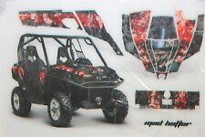 AMR Racing CanAm Commander Graphic Decal Kit UTV All Years MADHATTER RED BLACK