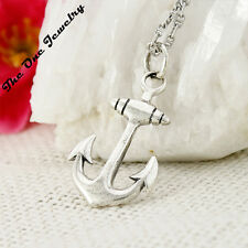 Italy 925 Solid Sterling Silver Boat Anchor Pendant for Necklace Link Party Gift