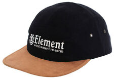 "BRAND NEW + TAG ELEMENT MENS BOYS ""HERITAGE"" FLAT BRIM CAP HAT SNAPBACK BLACK"