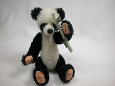 "World of Miniature Bears 4"" Mohair Panda Bear Mu-lan #872B Collectible Bear"