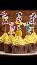 24 Pcs,  Mickey And Friends Cupcake Toppers Kids Birthday Party Supplies.