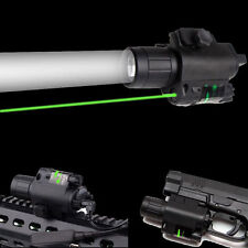 Combo Cree Q5 LED Flashlight&Green Laser Sight 20mm Rail For Rifle Pistol Gun