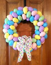 Easter Egg Wreath decor full and bright hand made cute decoration nice pretty