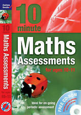 NEW BOOK with CD - 10 minute MATHS ASSESSMENTS for ages 10-11 (rrp £20)