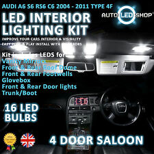 AUDI A6 S6 RS6 C6 05-10 LED INTERIOR UPGRADE COMPLETE KIT SET BULB XENON WHITE