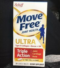 Move Free Ultra UC-II Collagen and Hyaluronic Acid Joint Supplement 30 Count NEW