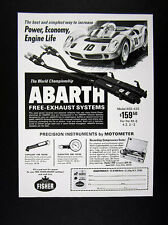 1969 Abarth XKE-420 Free-Exhaust System race car art vintage print Ad
