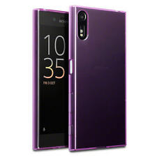 Terrapin Thin Rubber Gel Case Cover for Sony Xperia XZ - Purple