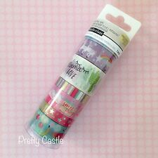 New Recollections Planner Washi Tape Tube Set  - Unicorn Ice Cream Rainbow Pink