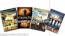 SEALED 4 Pack Fireproof - Facing The Giants - Flywheel - Courageous DVD NEW