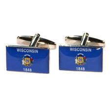 Azul Wisconsin nos Bandera Del Estado De Gemelos Con Bolsa De Regalo American Flags actual