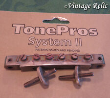 aged TonePros TUNEOMATIC ABR-1 bridge AVR2/N Nickel fit Gibson Les Paul Historic