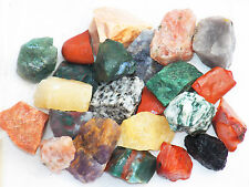 "1 LB INDIA MIX  1""+ Bulk Rough Tumbling Rock Sunstone Bloodstone 2200+ CARATS"
