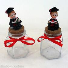 Offerta stock Bomboniere confettate Barattolo vetro con libri tocco per Laurea