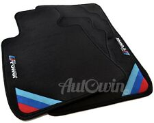 BMW 3 Series E46 1997-2006 Coupe Black Floor Mats With M Power Emblem Clips