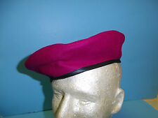 b2589-58 Vietnam French Indochina Beret Airborne red maroon size 58