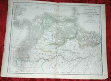 Antica Mappa Carta Geografica Nuova Granata 1860 Stabilimento Civelli