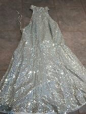 Women's 9 10 Fredericks Of Hollywood Blue Sequin Mini Dress Prom Formal Party