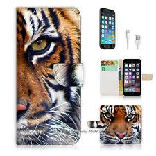 iPhone 6 6S Plus (5.5') Flip Wallet Case Cover! P0029 Tiger Face