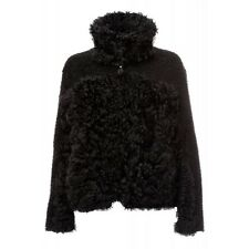 NWT RoschTerra SHEARLING Fur CURLY Persian Tibetan LAMB Coat JACKET XS $775