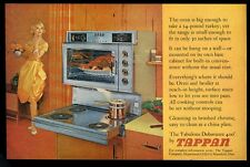 1960 Tappan Debutante 400 pull-out cooktop range photo vintage print ad