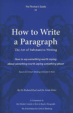 Thinker's Guide To How To Write A Paragraph