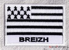 écusson à coudre patche drapeau BRETAGNE Breizh 70/45mm / patch 006