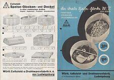 LUDWIGSBURG, Prospekt 1938, Württ. Celluloid-u. Drahtwarenfabrik KG Kerschbaum