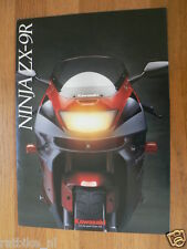 HAP-114 KAWASAKI BROCHURE NINJA ZX-9R ENGLISH 10 PAGES PROSPEKT,FOLDER,MOTO