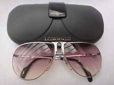 VINTAGE LONGINES METZLER 0154 AVIATOR SILVER MADE IN GERMANY 1980'S SUNGLASSES