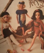 "Vintage Knitting Pattern Sindy Barbie Teenage Clothes 11-12"" Dolls Outfits"