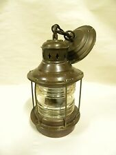 Vintage Kilborn-Sauer Co Fairfield Conn Nautical Ships Style Lantern Lamp (B25)